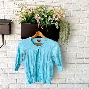 Merona Teal Seafoam Button Up Cardigan Sweater